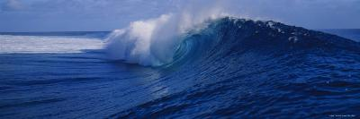 Waves Breaking on the Coast, Tahiti, French Polynesia--Photographic Print