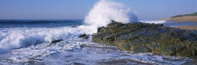Waves Breaking on the Rocks, Durban, South Africa--Photographic Print