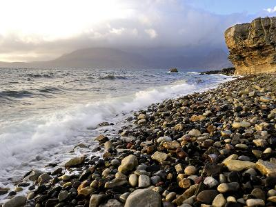 Waves Breaking on the Rocky Foreshore at Elgol, Isle of Skye, Inner Hebrides, Scotland, United King-Peter Richardson-Photographic Print