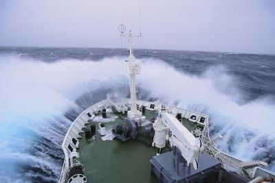Waves Breaking over the Bow of a Ship-DLILLC-Photographic Print