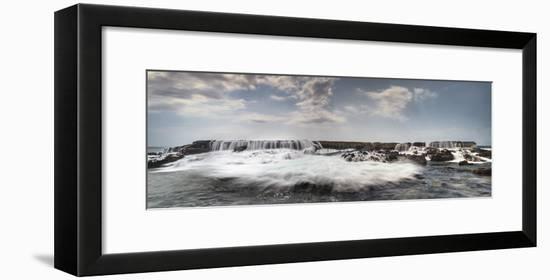 Waves Crash Over And Through An Arch-Jason Matias-Framed Giclee Print