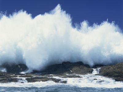 Waves Crashing on Rocks on the Coast of South Africa, Africa-Groenendijk Peter-Photographic Print