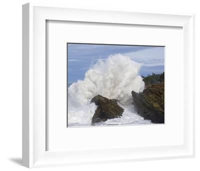 Waves Crashing on Rocks-Craig Tuttle-Framed Photographic Print