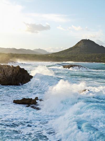 Waves Crashing on Rocks-Norbert Schaefer-Photographic Print