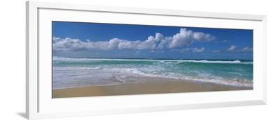 Waves Crashing on the Beach, Sunset Beach, Oahu, Hawaii, USA--Framed Photographic Print