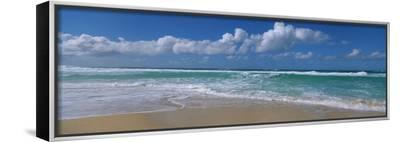 Waves Crashing on the Beach, Sunset Beach, Oahu, Hawaii, USA--Framed Canvas Print