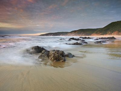 Waves Crashing onto the Rocky and Sandy Mcclure's Beach-Patrick Smith-Photographic Print