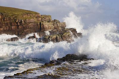 Waves Crashing over Rocks, Coastline Near Point of Stoer, Assynt, Sutherland, Nw Scotland, UK-Mark Hamblin-Photographic Print