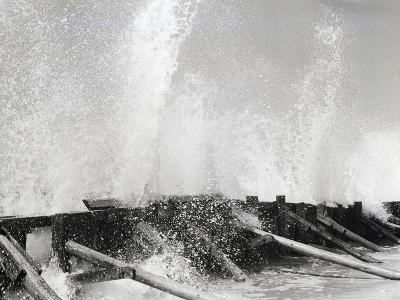 Waves Dashing against Breakwater-Philip Gendreau-Photographic Print