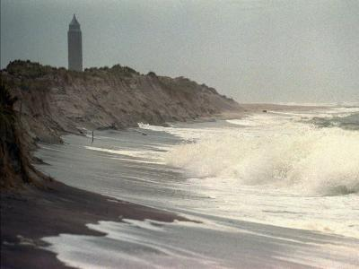 Waves from the Atlantic Ocean Crash against the Shore at Robert Moses State Park--Photographic Print