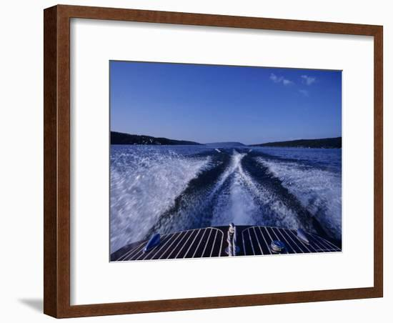 Waves Left in the Wake of a Boat-Kenneth Garrett-Framed Photographic Print