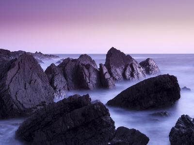 Waves Moving over Jagged Rocks at Hartland Quay, Cornwall, England, United Kingdom, Europe-Ian Egner-Photographic Print