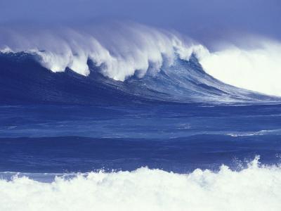 Waves off Kulima Point, Northshore, Oahu, Hawaii, USA-Darrell Gulin-Photographic Print
