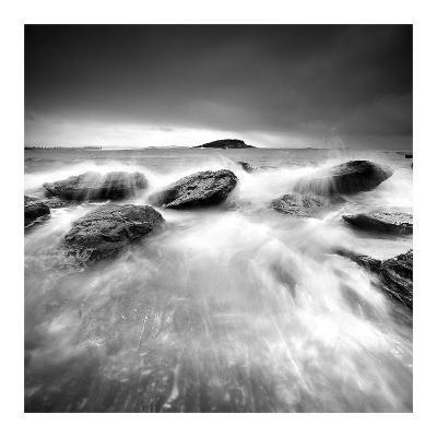 Waves on Rocks-PhotoINC Studio-Art Print