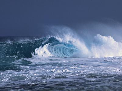 Waves on the North Shore of Oahu, Hawaii, USA-Charles Sleicher-Photographic Print