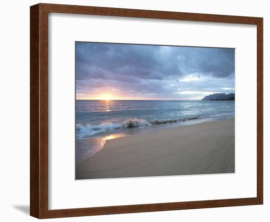 Waves Roll on Beach During Sunrise-Chad Copeland-Framed Photographic Print