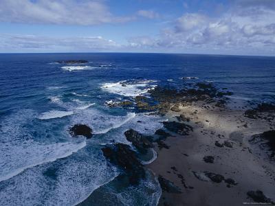 Waves Smashing Onto a Rugged Remote Coastline Beneath Storm Clouds, Australia-Jason Edwards-Photographic Print