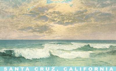 Waves under Mottled Sky, Santa Cruz, California