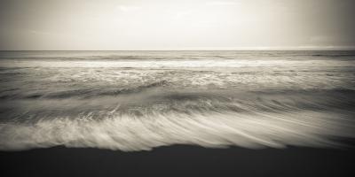Waves, Waipio Valley Beach, Hamakua Coast, the Big Island, Hawaii-Russ Bishop-Photographic Print