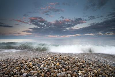Waves Wash Ashore under a Gentle Sky-Robbie George-Photographic Print