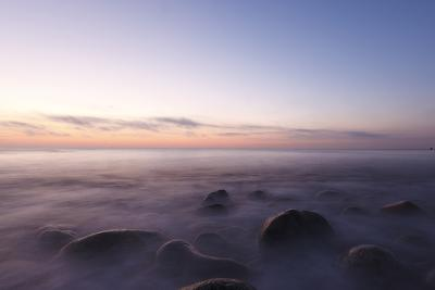 Waves Wash over the Rocks at Rye Harbor SP in Rye, New Hampshire-Jerry & Marcy Monkman-Photographic Print