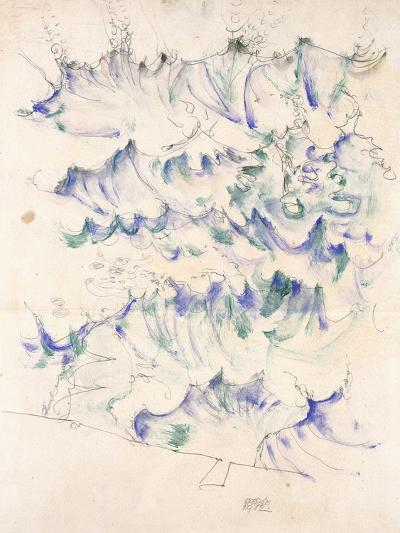 Waves. Wellen. Egon Schiele. Gouache and Pencil on Buff Paper, 1912-Egon Schiele-Giclee Print