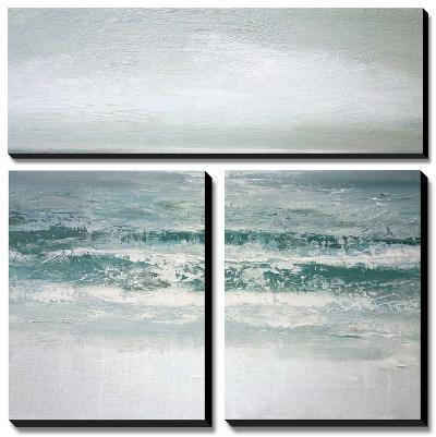 Waves-Caroline Gold-Canvas Art Set