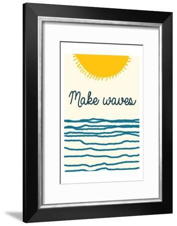 Waves-Sheldon Lewis-Framed Art Print