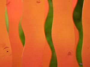 Wavy Orange Object Background