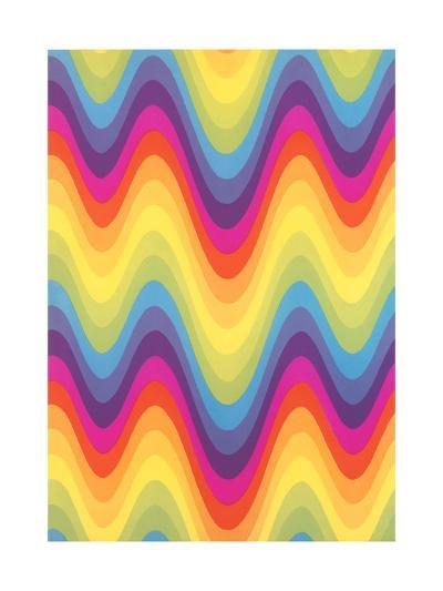 Wavy Rainbow Motif--Art Print