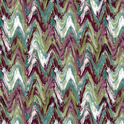 Wavy Stripe Aubergine-Bill Jackson-Giclee Print