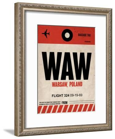 WAW Warsaw Luggage Tag I-NaxArt-Framed Art Print