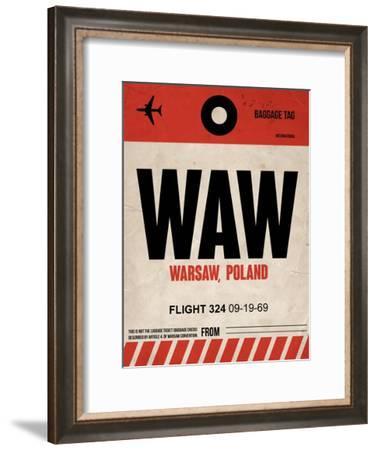 WAW Warsaw Luggage Tag I-NaxArt-Framed Art Print