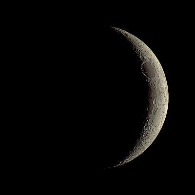 Waxing Crescent Moon-Eckhard Slawik-Photographic Print