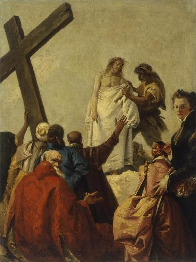 Way of the Cross, Station X - Christ Stripped of His Garments-Giandomenico Tiepolo-Art Print