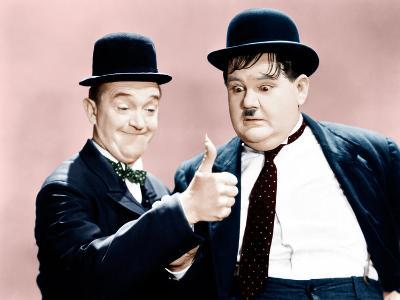 Way Out West, Stan Laurel, Oliver Hardy, 1937--Photo