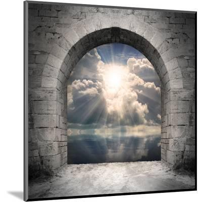 Way To New World. New Life Concept - Light Over Water-Kletr-Mounted Print