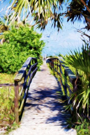 Way to the Beach - In the Style of Oil Painting-Philippe Hugonnard-Giclee Print