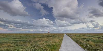 Way to the Lighthouse of Westerhever (Municipality), Schleswig-Holstein, Germany-Rainer Mirau-Photographic Print
