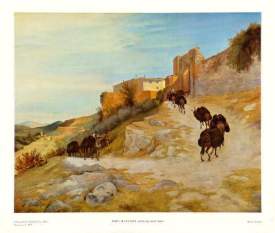 Way up to Narni-Karl Blechen-Art Print