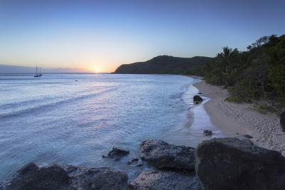 Waya Island at Sunset, Yasawa Islands, Fiji, South Pacific, Pacific-Ian Trower-Photographic Print
