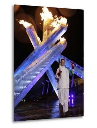 Wayne Gretzky Lights the Olympic Flame During the Opening Ceremony of 2010 Vancouver Winter Games