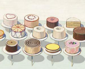 Cakes, 1963 by Wayne Thiebaud