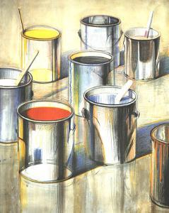 Paint Cans (No text) by Wayne Thiebaud