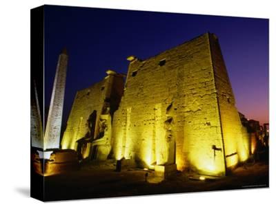 Ancient Temple at Night, Luxor, Egypt