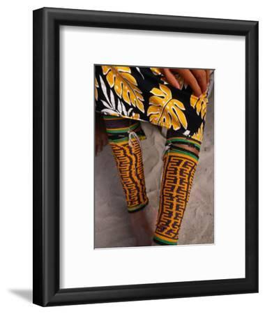 Beaded Ankle and Leg Decoration from San Blas Islands, Panama