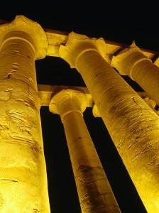 Colonnade of Amenophis II at Temple of Luxor, Luxor, Egypt by Wayne Walton