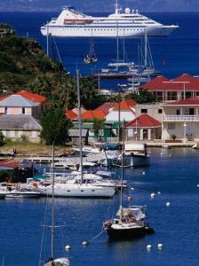 Cruise Ship Approaching Island Port, Gustavia, St. Barts by Wayne Walton
