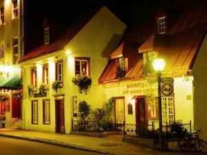 Historic Restaurant at Night, Quebec City, Canada by Wayne Walton