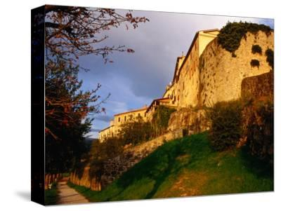 Old Hilltop Town Ramparts at Sunset, Buzet, Croatia